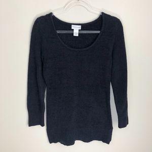 Soft Surroundings Black Long Sleeve Sweater XS